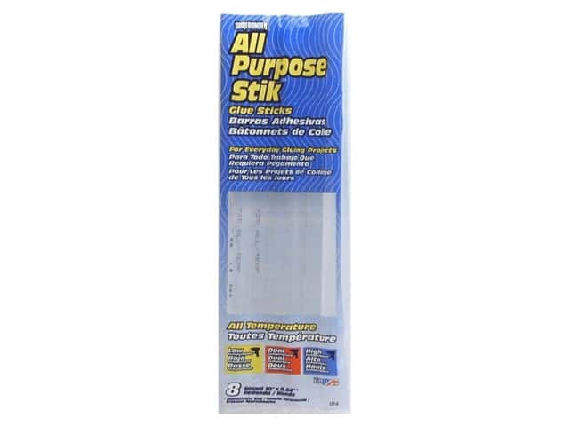 "Surebonder All Temperature Glue Stick 10"" Full Size 8pc"