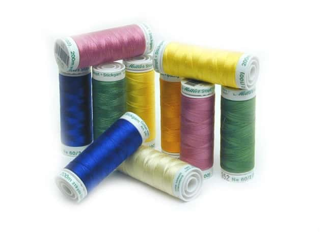 Mettler Fine Machine Embroidery Thread Silk Finish Size 60 220 yd.