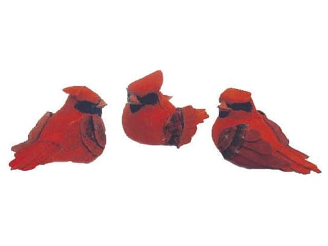 Accent Design Artificial Bird 3 1/4 in. Cardinal Red/Black Feather 1 pc.
