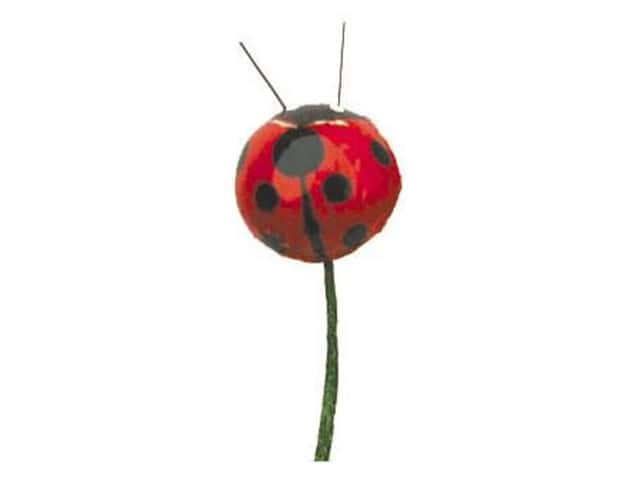 "Accent Design Floral and Garden Accents Garden Friend Ladybug with Wire 1/2"" Red/Black"