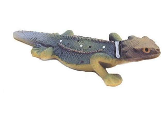 Accent Design Artificial Lizard 2 1/2 in. Blue/Green/Brown 1 pc.