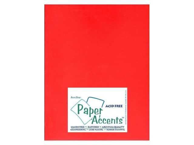 Cardstock 8 1/2 x 11 in. #101 Smooth Red by Paper Accents (25 sheets)