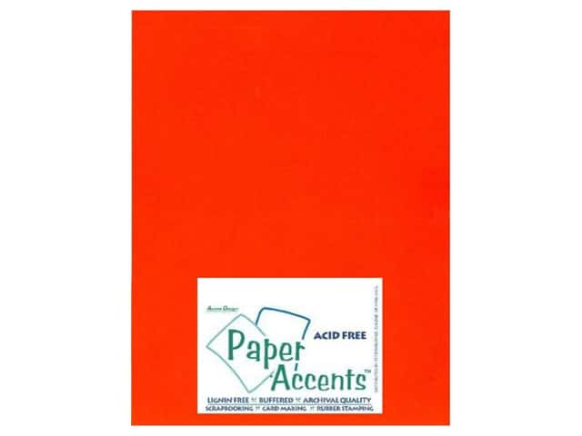 Cardstock 8 1/2 x 11 in. #104 Smooth Orange by Paper Accents (25 sheets)