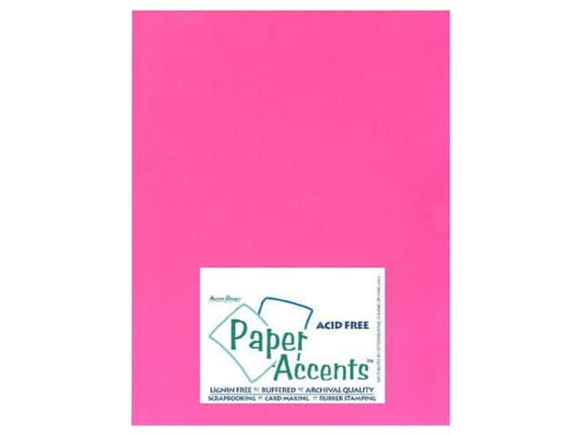 Cardstock 8 1/2 x 11 in. #106 Smooth Electric Pink by Paper Accents (25 sheets)