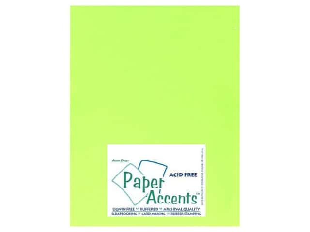 Cardstock 8 1/2 x 11 in. #107 Smooth Electric Green by Paper Accents (25 sheets)