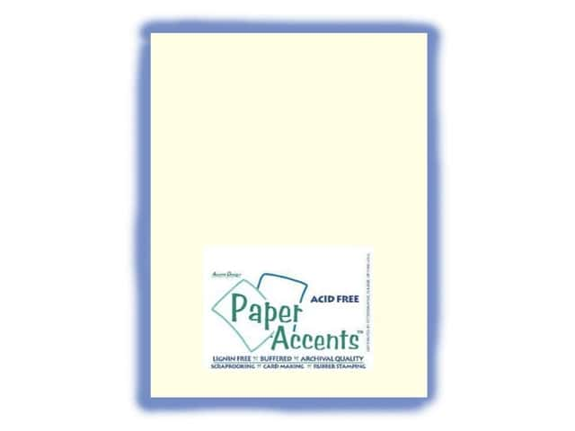 Cardstock 8 1/2 x 11 in. #402 Linen Light Ivory by Paper Accents (25 sheets)