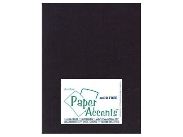 Cardstock 8 1/2 x 11 in. #410 Linen Black by Paper Accents (25 sheets)