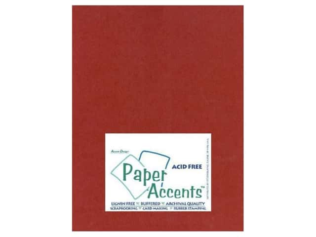 Cardstock 8 1/2 x 11 in. #414 Linen Olde Towne Red by Paper Accents (25 sheets)