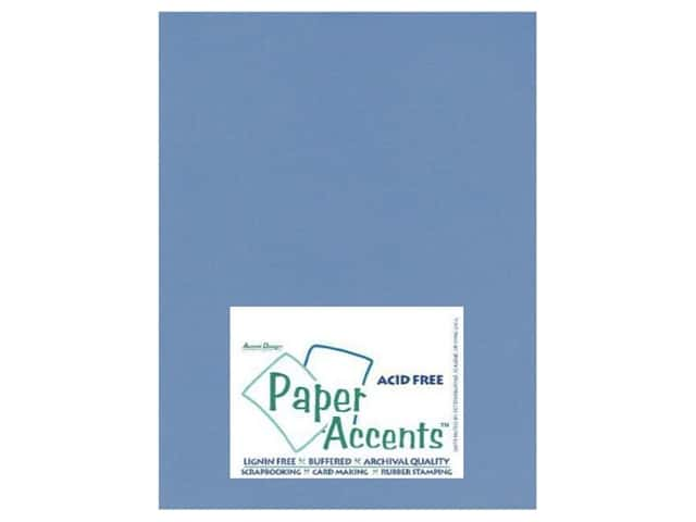 Cardstock 8 1/2 x 11 in. #613 Laid Sky Blue by Paper Accents (25 sheets)