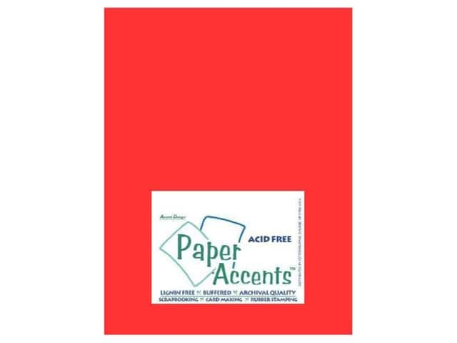 Vellum 8 1/2 x 11 in. Red by Paper Accents (25 sheets)