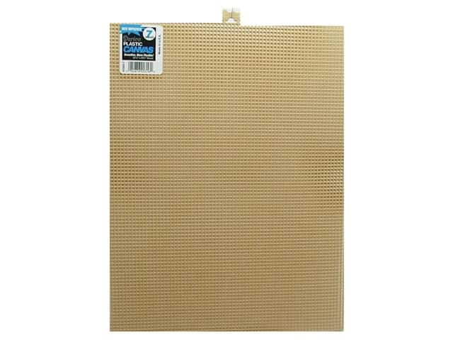Darice Plastic Canvas #7 Mesh 10 1/2 x 13 1/2 in. Beige Rectangle (12 sheets)