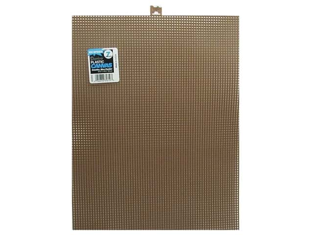 Darice Plastic Canvas #7 Mesh 10 1/2 x 13 1/2 in. Brown Rectangle (12 sheets)
