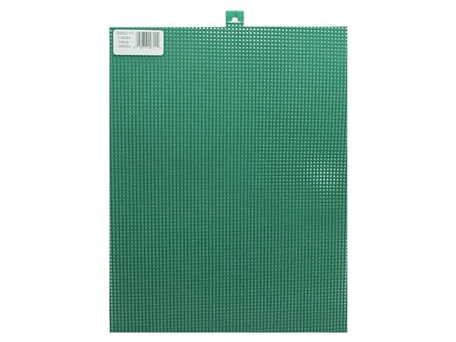 Darice Plastic Canvas #7 Mesh 10 1/2 x 13 1/2 in. Xmas Green Rectangle (12 sheets)