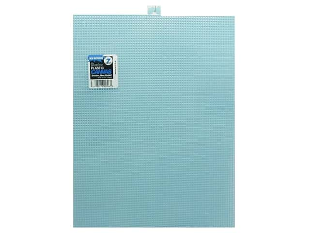 Darice Plastic Canvas #7 Mesh 10 1/2 x 13 1/2 in. Light Blue Rectangle (12 sheets)