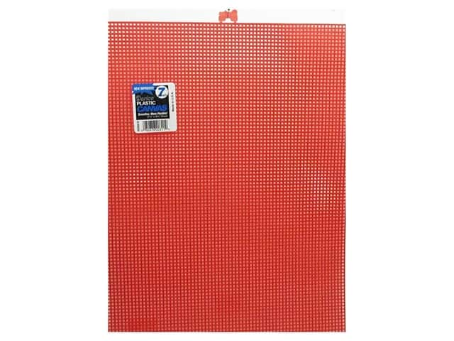 "Darice Plastic Canvas #7 10.5""x 13.5"" Red (12 sheets)"
