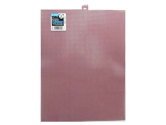 Darice Plastic Canvas #7 Mesh 10 1/2 x 13 1/2 in. Dusty Rose Rectangle (12 sheets)