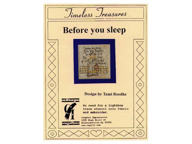 Graphic Impressions Timeless Treasures Stencil Before You Sleep