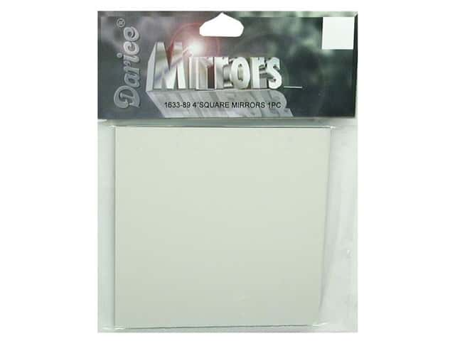 "Darice Mirrors Square 4"" 1pc (3 packages)"