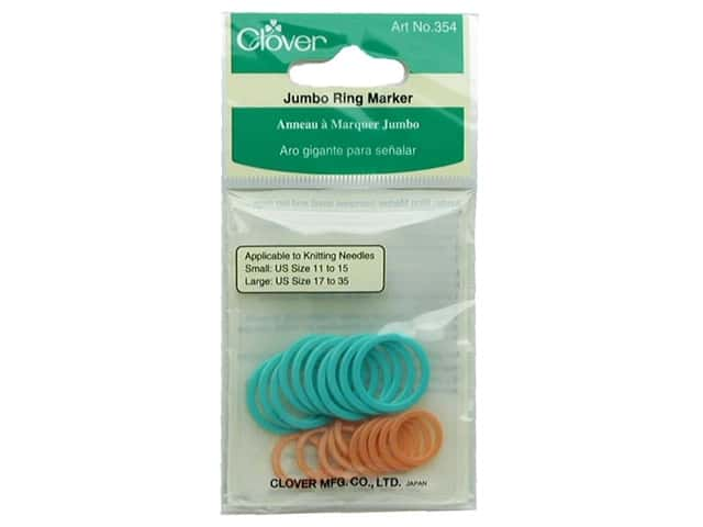 Clover Stitch Markers Ring Jumbo 20pc
