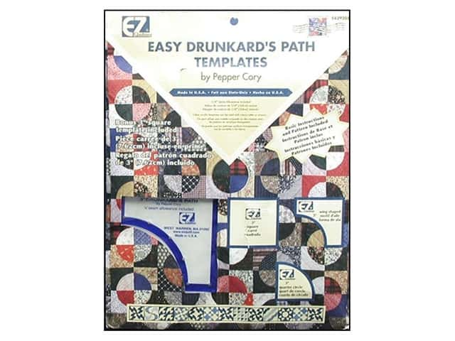 EZ Quilting Easy Drunkard's Path Acrylic Template Set by Pepper Cory