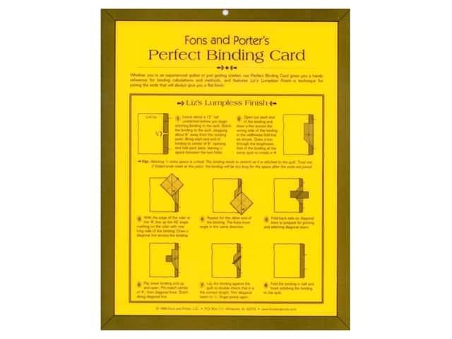 Fons & Porter's Perfect Binding Card
