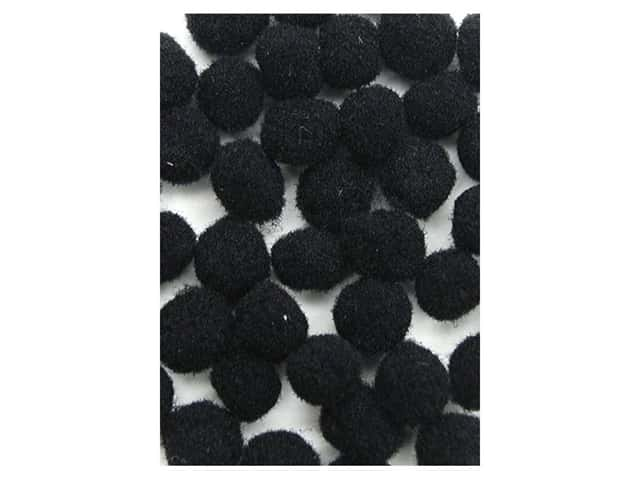 Pom Pom by Accent Design 1/8 in. Black 40pc. (3 packages)
