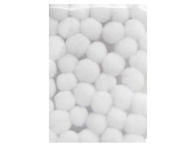 Pom Pom by Accent Design 1/8 in. White 40pc. (3 packages)