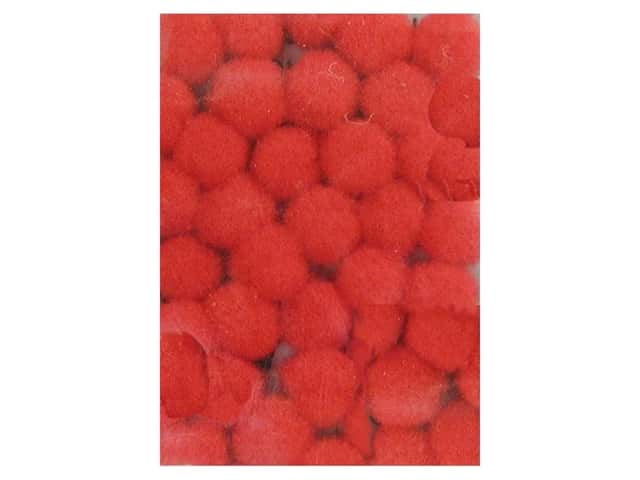 Pom Pom by Accent Design 1/8 in. Red 40pc. (3 packages)