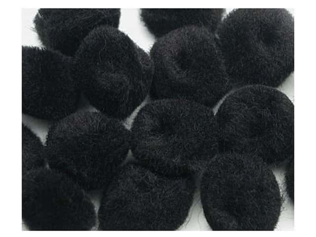 "Accent Design Pom Pom 1/2"" 16 pc Black (3 packages)"
