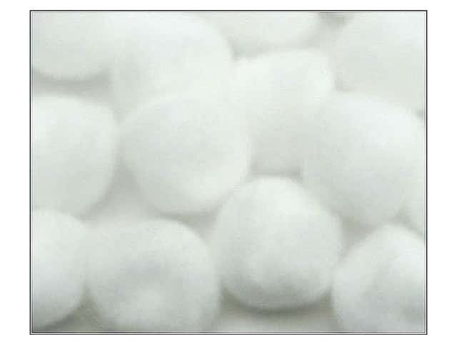 Pom Pom by Accent Design 1/2 in. White 16pc. (3 packages)