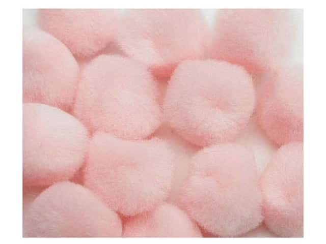 Pom Pom by Accent Design 1/2 in. Pink 16pc. (3 packages)