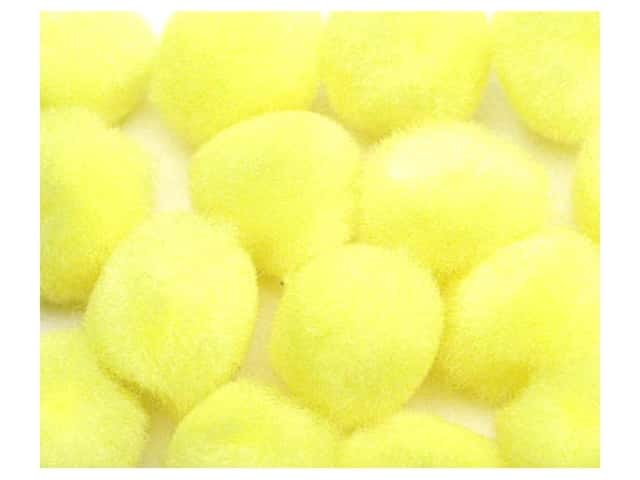 "Accent Design Pom Pom 1/2"" 16 pc Yellow (3 packages)"