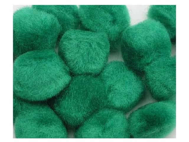 Pom Pom by Accent Design 1 in. Green 8pc. (3 packages)