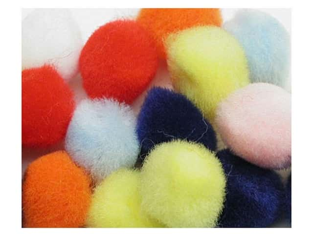Pom Pom by Accent Design 1 in. Multi 100pc .