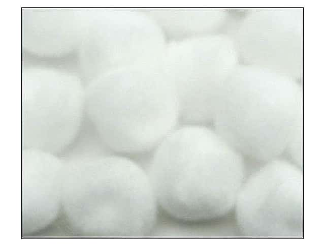 Pom Pom by Accent Design 2 in. White 50pc.