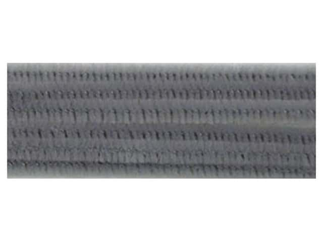 "Accent Design Chenille Stem 12""x 6mm Grey (3 packages)"