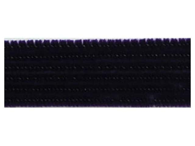 "Accent Design Chenille Stem 12""x 6mm Black 100pc"