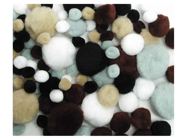 Pom Pom by Accent Design Variety Pack Animal 100pc.