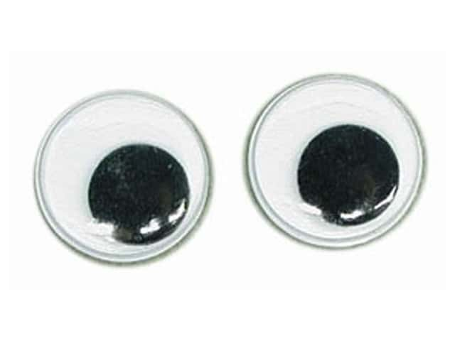 Googly Wiggle Eyes by Accent Design 5/8 in. Round 8 pc. Black (3 packages)