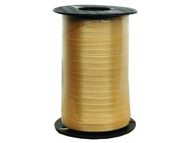 "Hollywood Curling Ribbon Crimped 3/16"" 500yd Gold"