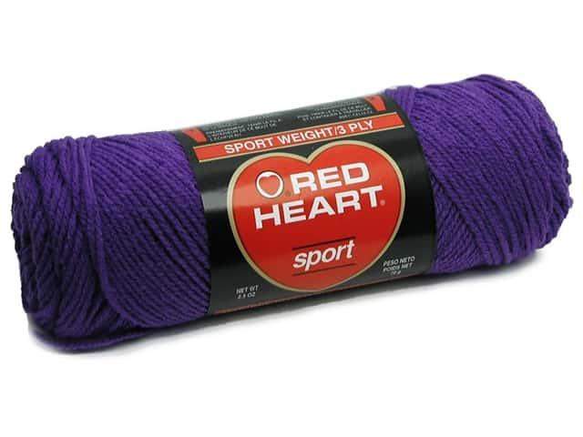 Red Heart Sport Yarn #585 Purple 2.5 oz.