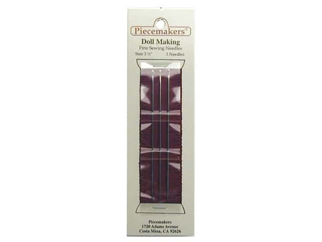 "Piecemakers Dollmaking Needles 3 1/2"" (3 packages)"