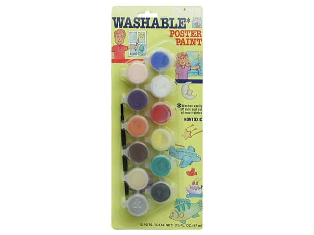 Palmer  Washable Poster Paint Set 6 Mini Pots