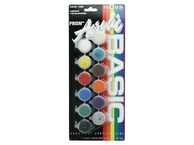 Palmer Prism Acrylic Paint Set 12 Pot Basic