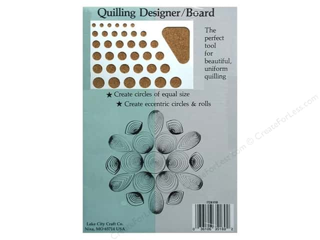 "Lake City Crafts Quilling Designer/Board 6""x 8.5"""