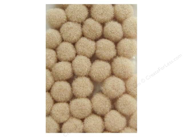 Pom Pom by Accent Design 1/8 in. Beige 40pc. (3 packages)