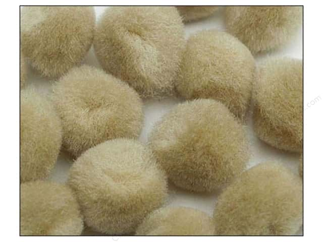 Pom Pom by Accent Design 1/2 in. Beige 100pc.
