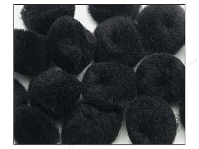 Pom Pom by Accent Design 2 in. Black 50pc.