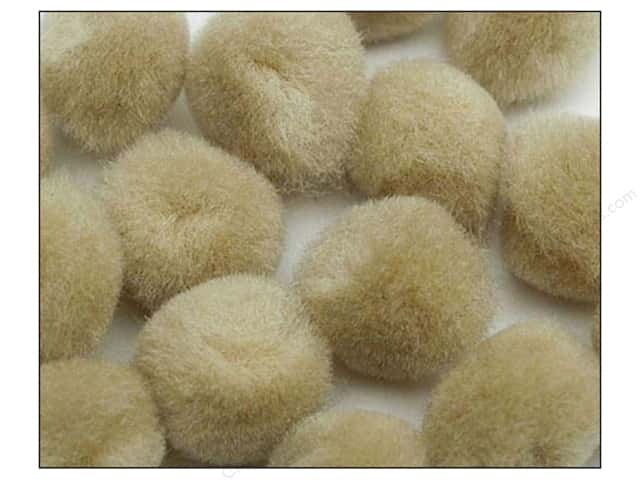 Pom Pom by Accent Design 2 in. Beige 50pc.