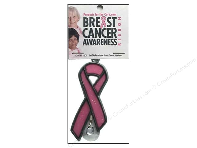 Products 4 The Cure Breast Cancer Ribbon Suncatcher (3 pieces)